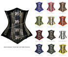18 Full Double Steel Boned Waist Training Leather Overbust Corset #8334-FD-LE