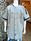 Men's Fubu Grey Jersey 100% Genuine Leather Jacket