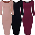 Hot Women Bodycon Long Sleeve Slim Fit Evening Sexy Party Cocktail Pencil Dress