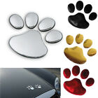2X 3D Dog Paw Footprint Cute PVC Car Sticker Nick Cover Sticker Silver Gold Red