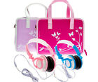Girls Travel Vinyl PU Handbag Travel Case with Headphones for LeapPad Ultra XDi