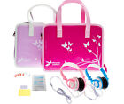 Girls Handbag Case with Headphones + 6 Screen Protectors for LeapPad Ultra XDi
