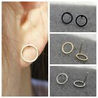 1Pair Fashion Women Alloy Round Circle Earrings Simple Ear Studs Jewelry Gift