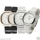 Elegant Men Women Couple Wristwatch Leather Strap Square Quartz Watch Souvenir