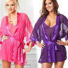 2pcs/Set Sexy Lingeries Lace Slip Dress and Pajamas Women's Nightgown Bath Robes