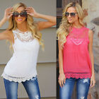 Women's Fashion Casual Loose Sleeveless Chiffon Vest Tank T Shirt Blouse Tops