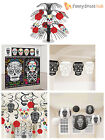 Day of The Dead Black White Red Sugar Skull Hanging Halloween Party Decoration