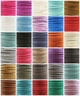 5mm FAUX SUEDE FLAT CORD *33 COLOURS* CRAFTS JEWELLERY MAKING STRINGING