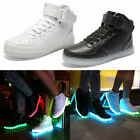 Fishion 7 Colours Of Light High-Top Light Up Shoes LED Sneakers Full Size Newest