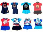 Official Boys Character Kids T Shirt Shorts Pyjamas Pjs New Ages 18-24m-10 Years