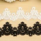 1/3/5 Yards Embroidered Lace Trim Applique Ribbon Wedding Bridal Sewing Craft