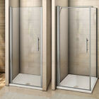 Walk In Frameless Pivot Shower Enclosure Glass Cubicle Door Panel Stone Tray