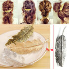Women Intricate Feather Hair Clip Hairpin Barrette Bobby Pins Hair Accs JYL