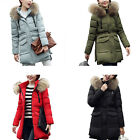 Ladies Winter Women Warm Coats Jackets Large Fur Collar Thick Down Jacket