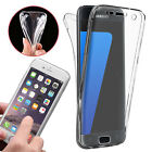 TPU Soft Clear Front & Back Fully Protection Gel Case Cover For Various Phone