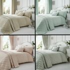 ELEGANT FLORAL JACQUARD COTTON RICH CREAM PINK QUILT DUVET COVER BEDDING SET