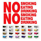 car business stickers - 2 No Smoking Eating Drink Taxi Bus Business Store Sign Car Window Decal Sticker