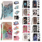 Various Design Patterns Wallet Case With Colorful Strap Leather Cover For Phones