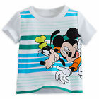 Disney Store Mickey Mouse & Goofy Boys T Shirt Tee Baby Size 3 6 9 12 Months NWT