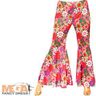 Flower Power Hippie Trousers Ladies Fancy Dress Hippy Flares 60s 70s Costume Ac