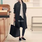 Womens Slim Jacket Outwear Warm Wool Coat  Long Winter Parka Coat Trench New