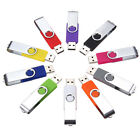 16GB 32GB USB 2.0 Swivel Flash Memory Stick Pen Drive Storage Thumb U Disk Lot