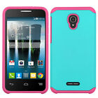 For Alcatel Fierce 4 HARD Astronoot Hybrid Rubber Silicone Case Phone Cover
