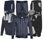 Mens Jogging Suit Tracksuit hooded hoodie Fleece Bottoms Pants S -XXL