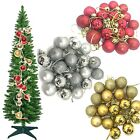 CHRISTMAS TREE HANGING ORNAMENTS SHATTERPROOF BALLS FOR DECORATION
