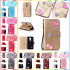 For LG K10 K420N  PU Leather 3D Handmade Bowknot Card Case Cover+Gift Strap