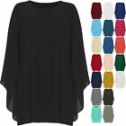 Womens Plus Chiffon Necklace Top Ladies Baggy Oversized Lined Long Sleeve 16-30