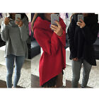 Womens Girls Hoodie Sweater Scarves Tops Collar Casual Long-sleeved Shirt New