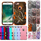 Duo Layer Hybrid Shockproof Case+Silicone Skin Cover for Apple Models