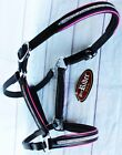 Horse Riding Leather English Black Pink Bling 927MT06