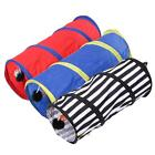 New Foldable Pet Tunnel Cat Kitten Ferrets Crinkle With Ring Bell Colorful 45cm