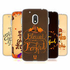 HEAD CASE DESIGNS THANKSGIVING TYPOGRAPHY GEL CASE FOR MOTOROLA MOTO G4 PLAY