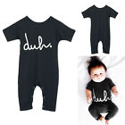 2016 Baby Boy Girl Short Sleeve Bodysuit Rompers Jumpsuit Outfits Summer Clothes
