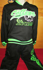 Girls Black College Track Suit Jog Suit Aged 4-14 Years