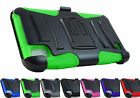 for LG X Power K6 K6P Volt 3 LS755 Armor Hybrid Case & Belt Clip Holster+PryTool