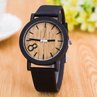 Bamboo Wood Vintage Quartz Watch Leather Band Dial Plate Wristwatch JYL
