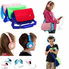 Kids Boy Girl Messenger Style Travel Bag with Headphones for Kurio Tab 2 7""