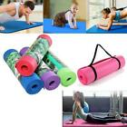 """72"""" 8mm Yoga Mat Exercise Yoga Gym Pilates Exercise Workout Pad with Carry Strap"""