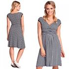 Glamour Empire. Women's Houndstooth Skater Dress. Sleeveless. Empire Waist. 062