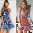 Sexy Women Casual Floral Cocktail Evening Party Mini Dress Beach Sundress S E0Xc