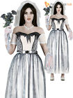 Ladies Zombie Bride Costume Adults Corpse Halloween Fancy Dress Womens Outfit