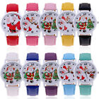 Christmas Tree Santa Claus Colorful Watch Deer Leather Quartz Wrist Watch Gifts