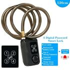 40cm/80cm/120cm Wire Rope Smart Lock Anti Theft Alarm Keyless Lock sl C2I0