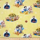 LICENSED DISNEY SNOW WHITE SEVEN DWARFS WITCH QUILT SEWING FABRIC Free Oz Post