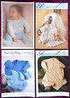 Various Baby Knitting Patterns Sweaters Dresses - Choose from Drop-down Menu