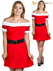 Ladies Miss Santa Claus Costume Adults Christmas Fancy Dress Womens Xmas Outfit
